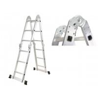 Лестница алюм. многофункц. 4х3 ступ. (стрем.-175см, лестн.-360см) 10,5кг STARTUL (ST9732-03) (шарнирное соединение)