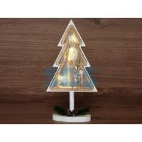 Деревянная фигурка с подсветкой <Елка на подставке> 14,5х5х30 см (NEON-NIGHT)