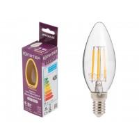 Лампа светодиодная C37 СВЕЧА 6 Вт 220-240В E14 3000К ЮПИТЕР ДЕКОР (60 Вт аналог лампы накал., 600Лм)