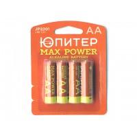 Батарейка AA LR6 1,5V alkaline 4шт. ЮПИТЕР MAX POWER