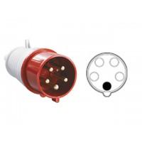 Вилка силовая 32А 380В 5 pin 3P+PE+N IP44 IEK (32А 380В 5 pin 3P+PE+N IP44) (ЭС)