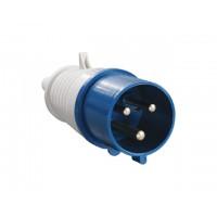Вилка силовая 32А 220В 3 pin 2P+PE IP44 IEK (32А 220В 3 pin 2P+PE IP44) (ЭС)