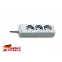 Удлинитель 1.5м (3 роз., 3.3кВт, с/з, ПВС) светло-серый Brennenstuhl Eco-Line (провод 3х1,5мм2; сила тока 16А; с/з - с заземляющим контактом)