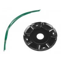 Головка триммерная DGM TH-221 леска ф 2.4 мм ручн., блистер (леска до 2.4 мм, 120x25.4 мм,