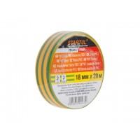 Изолента ПВХ 18ммх20м желто-зеленая STARTUL PROFI (ST9046-7) (130 мкм)