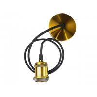 Светильник декоративный RETRO PLC 01 E27 230V/1M ANTIQUE BRONZE (патрон с проводом) JAZZWAY