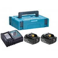 Аккумулятор 18.0 В BL1850B 2 шт. + зарядное устройство DC18RC в кейсе (Набор BL1850B 18V 5,0 Ah 2 шт. + DC18RC) (MAKITA)