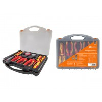 Набор диэлектрического инструмента №2,  пласт. чемодан, 11 предметов,  1000В,